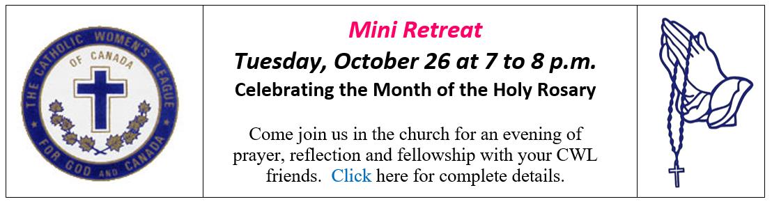 CWL Mini-Retreat